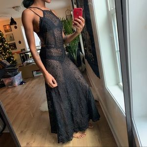 Kendall and Kylie Lace Maxi Dress